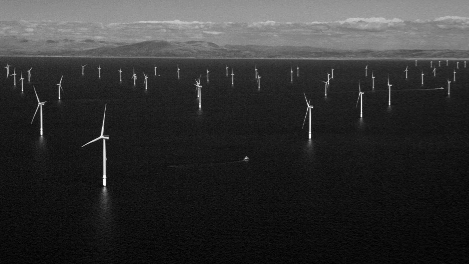 off shore wind farms bw